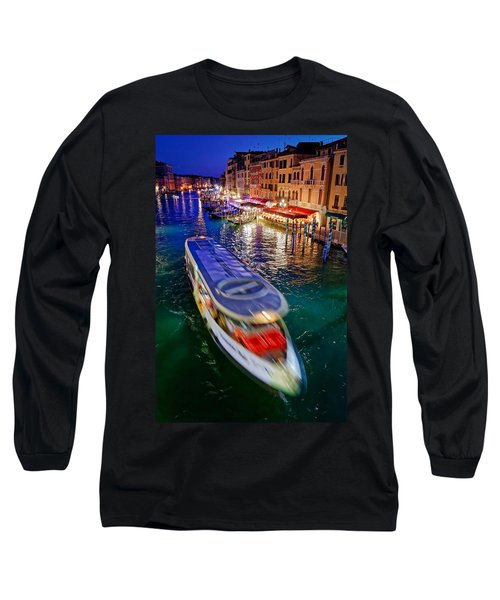 Crossing The Grand Canal Long Sleeve T-Shirt
