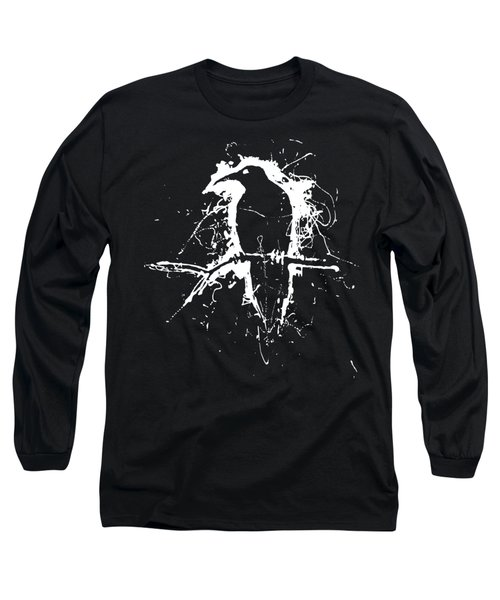 Crow Long Sleeve T-Shirt by H James Hoff