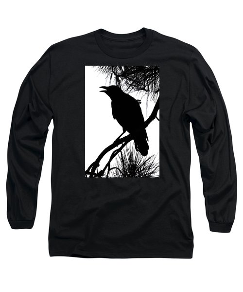 Long Sleeve T-Shirt featuring the photograph Crow Silhouette by Patricia Schaefer