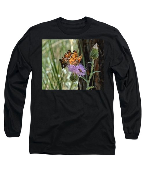 Crowded Thistle Long Sleeve T-Shirt