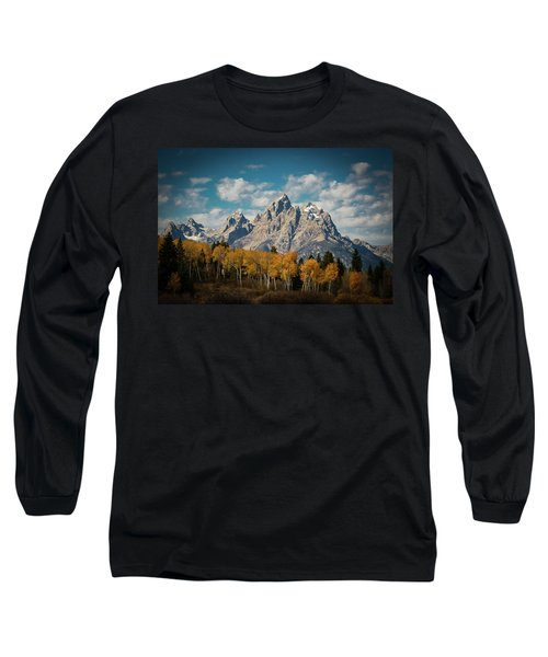 Crown For Tetons Long Sleeve T-Shirt by Edgars Erglis