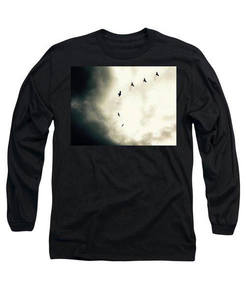 Crows On Christmas Eve 1 Long Sleeve T-Shirt