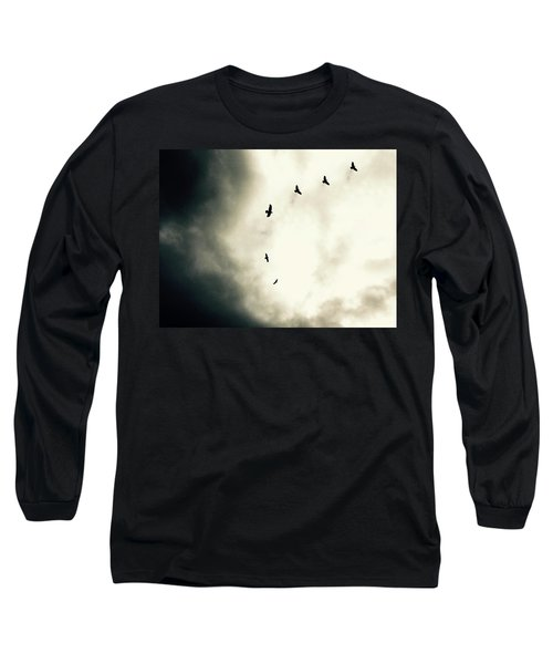 Crows On Christmas Eve 1 Long Sleeve T-Shirt