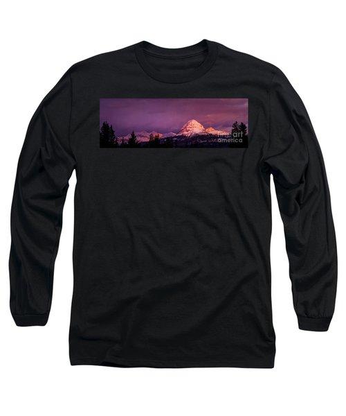 Crowsnest Sunrise Long Sleeve T-Shirt by Brad Allen Fine Art