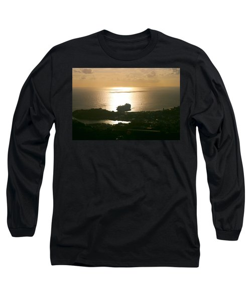 Cruise Ship At Sunset Long Sleeve T-Shirt