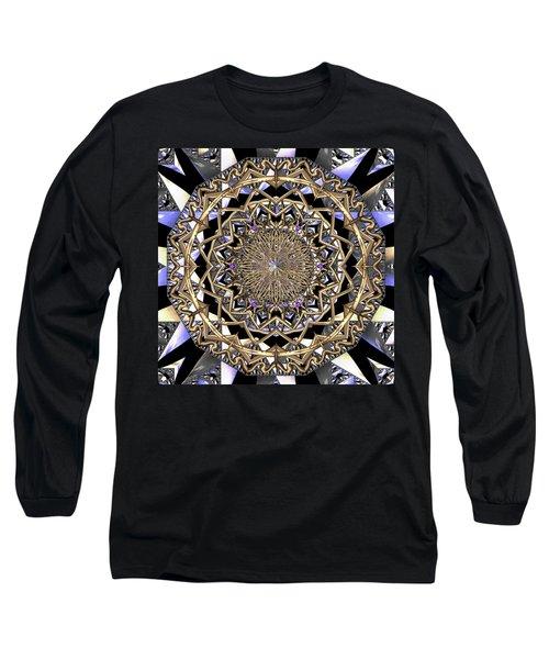 Long Sleeve T-Shirt featuring the digital art Crystal Ahau  by Robert Thalmeier