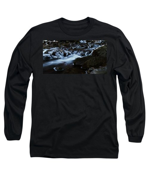 Crystal Flows In Hdr Long Sleeve T-Shirt