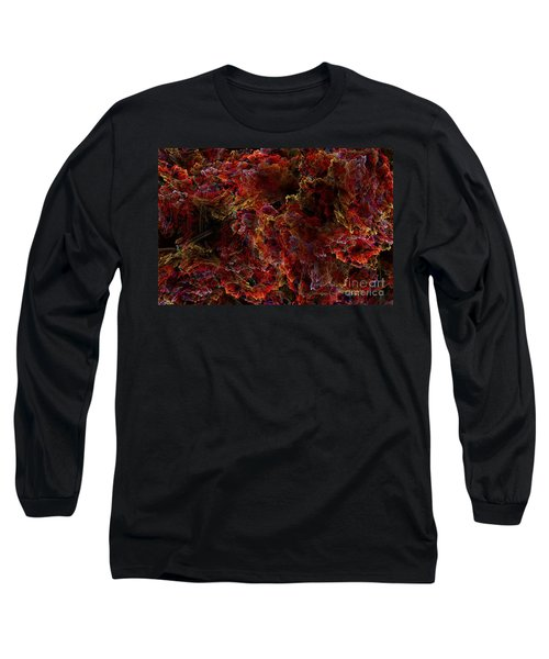 Long Sleeve T-Shirt featuring the digital art Crystal Inspiration Number Two Close Up by Olga Hamilton