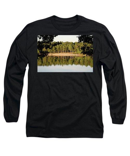 Crystal Lake In Whitehall Mi Long Sleeve T-Shirt by Ferrel Cordle
