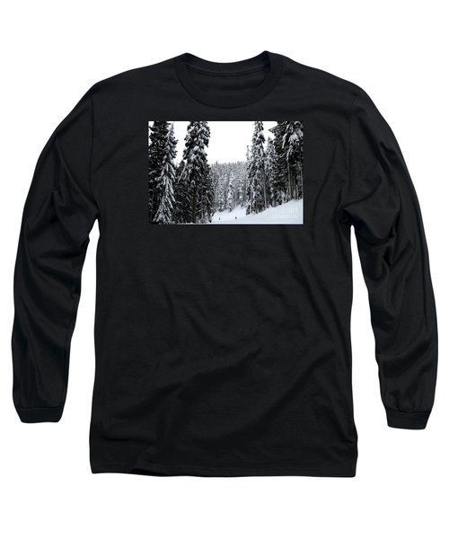 Long Sleeve T-Shirt featuring the photograph Crystal Mountain Skiing 2 by Tanya Searcy