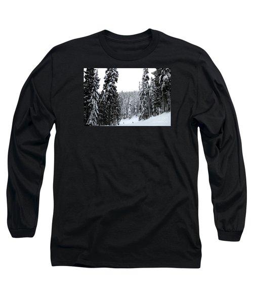 Crystal Mountain Skiing 2 Long Sleeve T-Shirt