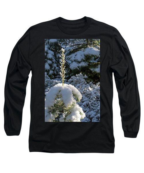 Long Sleeve T-Shirt featuring the photograph Crystal Tree by Jan Davies