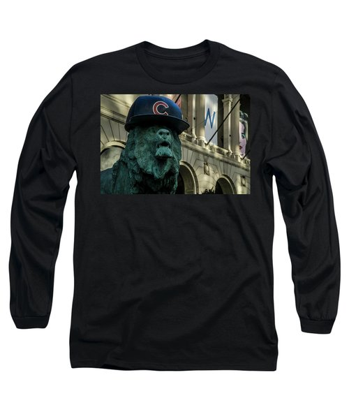Cub Hat On Art Institute Lion Telephoto Long Sleeve T-Shirt