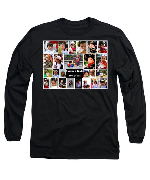 Long Sleeve T-Shirt featuring the photograph Cuenca Kids Collage by Al Bourassa