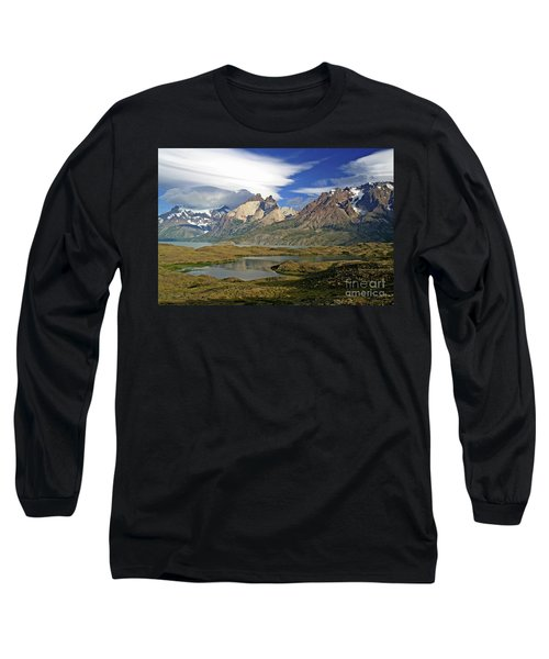 Cuernos Del Pain And Almirante Nieto In Patagonia Long Sleeve T-Shirt