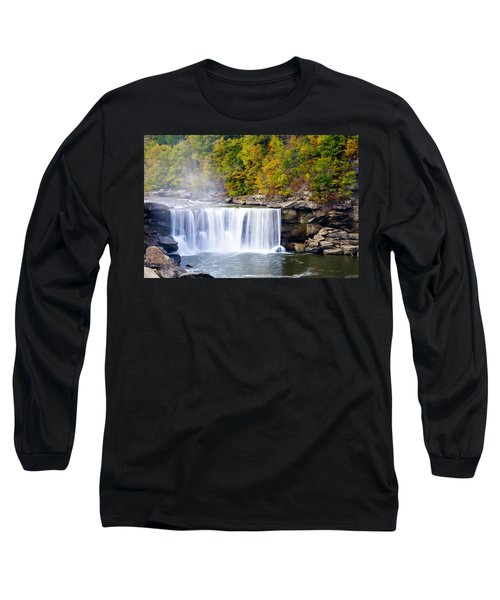 Cumberland Falls Long Sleeve T-Shirt by Alexey Stiop