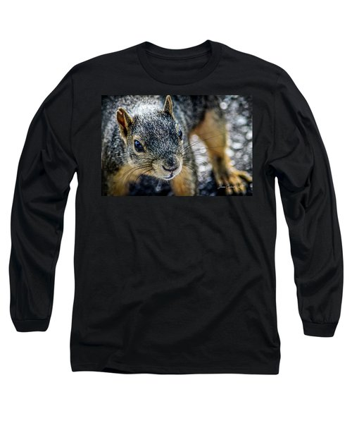 Long Sleeve T-Shirt featuring the photograph Curious Squirrel by Joann Copeland-Paul