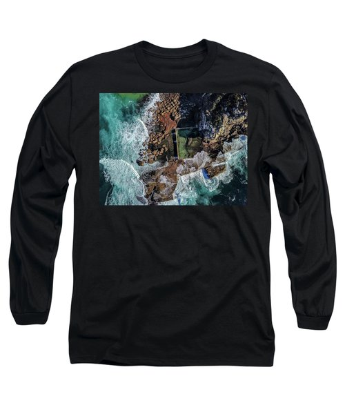 Long Sleeve T-Shirt featuring the photograph Curl Curl Pool by Chris Cousins