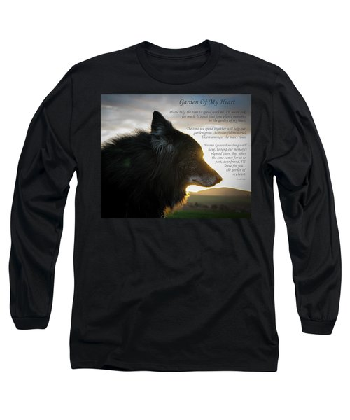 Custom Paw Print Garden Of My Heart Long Sleeve T-Shirt
