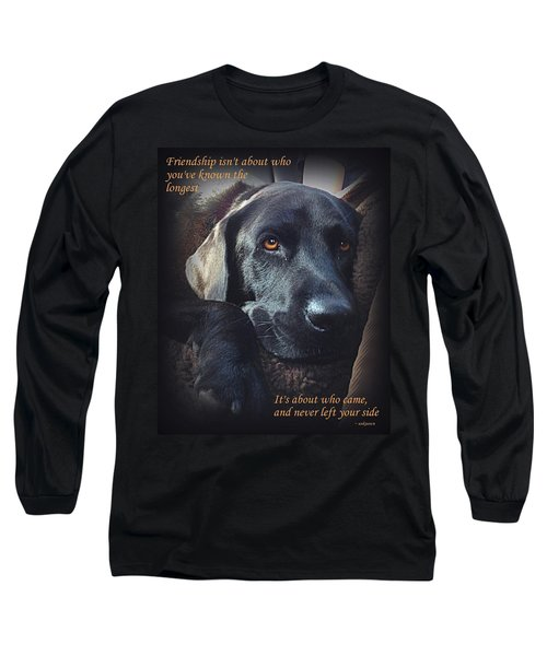 Custom Paw Print Midnight Long Sleeve T-Shirt