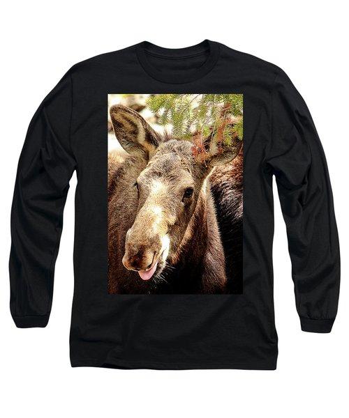 Cutie Moose Long Sleeve T-Shirt