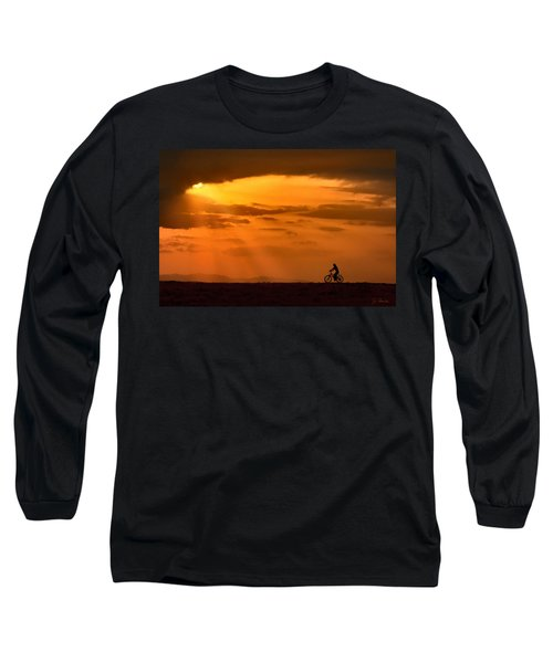 Cycling Into Sunrays Long Sleeve T-Shirt