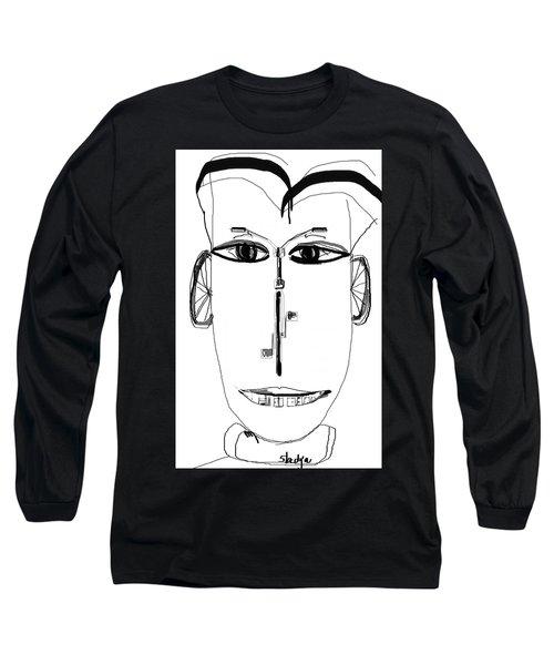 Long Sleeve T-Shirt featuring the digital art Cyclist by Sladjana Lazarevic
