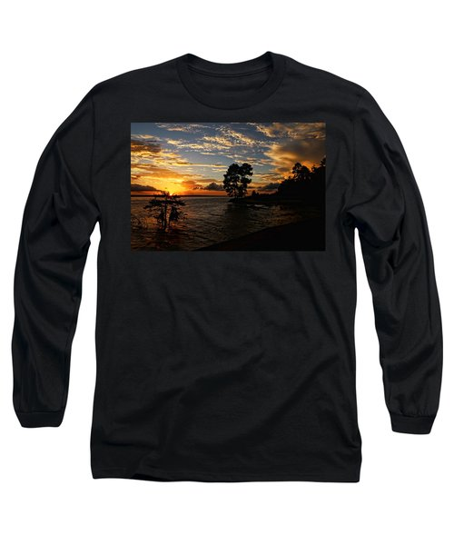 Cypress Bend Resort Sunset Long Sleeve T-Shirt by Judy Vincent