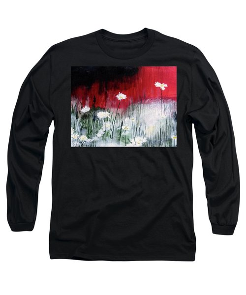 Daisies Long Sleeve T-Shirt by Mary Ellen Frazee