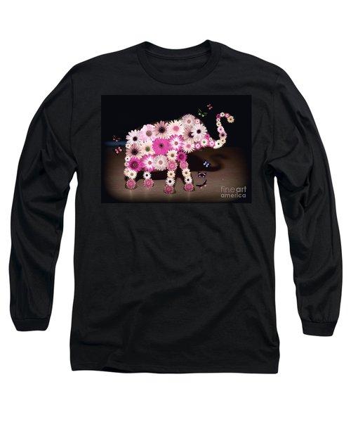 Daisy Elephant Long Sleeve T-Shirt