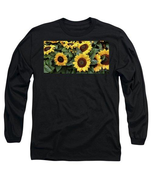 Daisy Yellow  Long Sleeve T-Shirt by Chuck Kuhn