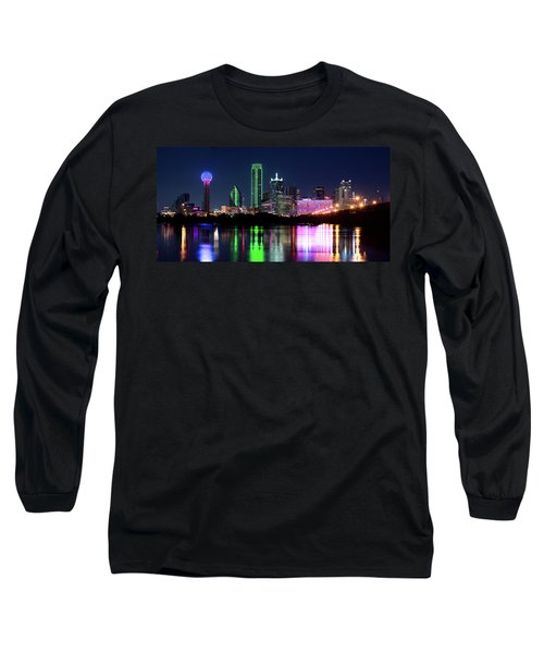 Dallas Colorful Night 52716 Long Sleeve T-Shirt