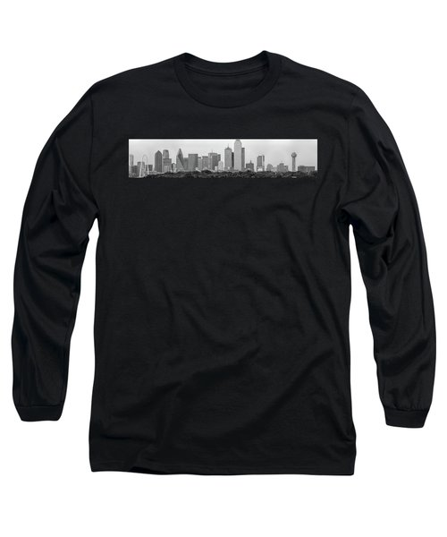 Long Sleeve T-Shirt featuring the photograph Dallas In Black And White by Jonathan Davison