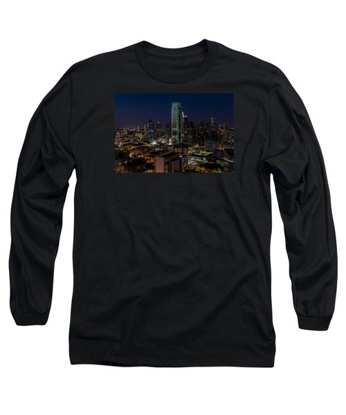 Dallas Skyline Evening Glow Long Sleeve T-Shirt