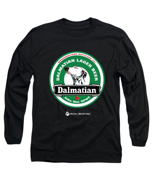 Dalmatian Lager Beer Long Sleeve T-Shirt by John LaFree