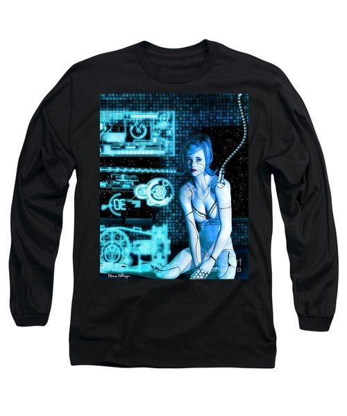 Damaged Cyborg Long Sleeve T-Shirt