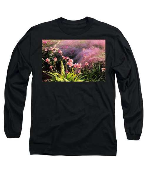 Long Sleeve T-Shirt featuring the photograph Dance Of The Orchids by Rosalie Scanlon
