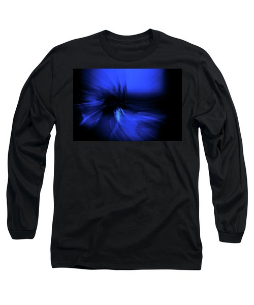 Dance Swirl In Blue Long Sleeve T-Shirt