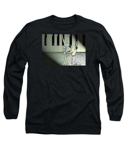 Dance To Express Your Thoughts Long Sleeve T-Shirt by Manjot Singh Sachdeva