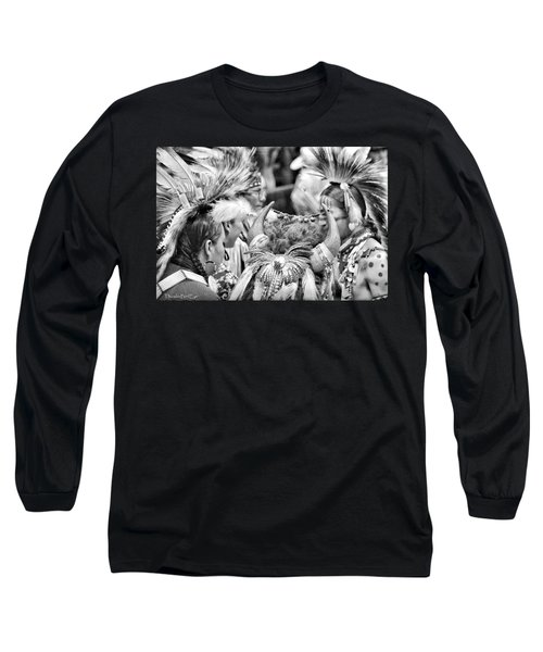 Dancers And Friends Long Sleeve T-Shirt by Clarice  Lakota