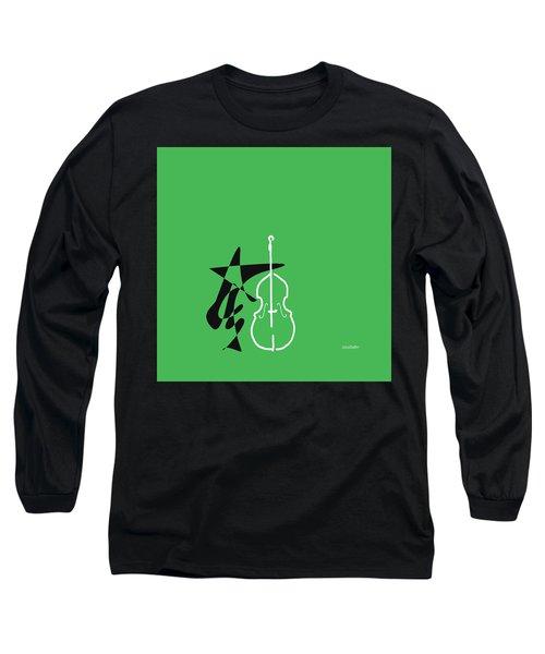 Dancing Bass In Green Long Sleeve T-Shirt