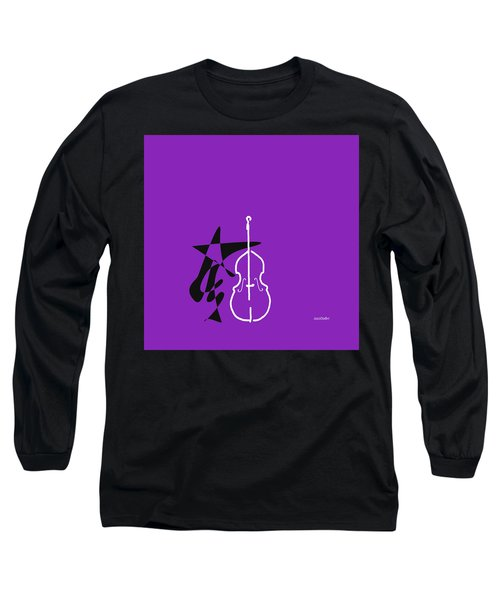 Dancing Bass In Purple Long Sleeve T-Shirt