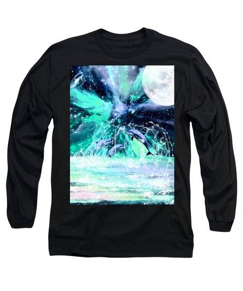 Dancing Dolphins Under The Moon Long Sleeve T-Shirt