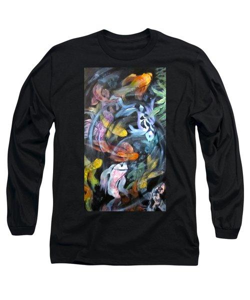 Dancing Koi Long Sleeve T-Shirt by Barbara O'Toole