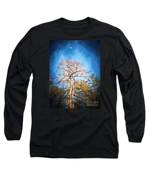 Dancing Under The Moon Long Sleeve T-Shirt by Kerri Farley