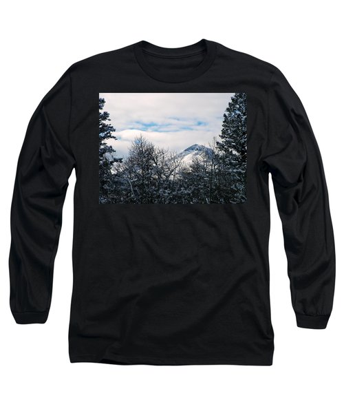 Dancing Woman Mountain In The Winter Long Sleeve T-Shirt