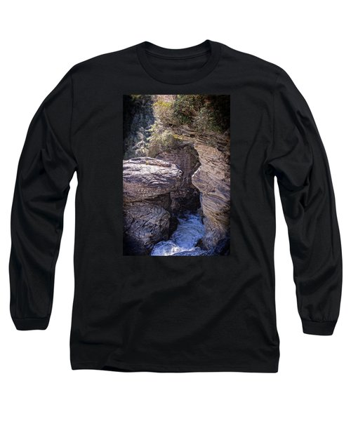Dark Chasm Long Sleeve T-Shirt by Alan Raasch