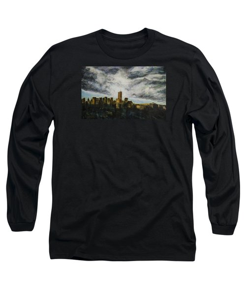 Dark Clouds Approaching Long Sleeve T-Shirt by Ron Richard Baviello