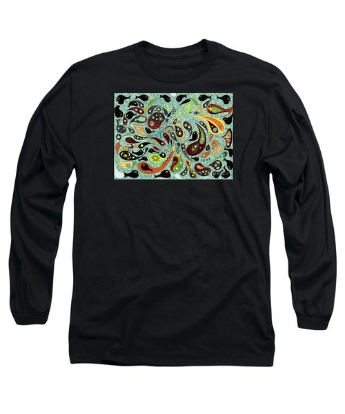 Dark Star Swims Among The Fishes Long Sleeve T-Shirt by Carol Jacobs