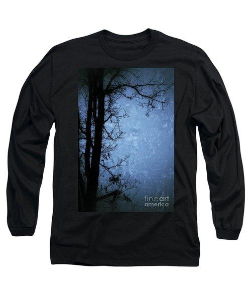 Dark Tree Silhouette  Long Sleeve T-Shirt by Jason Nicholas